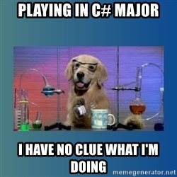 Chemistry Dog - playing in c# major i have no clue what i'm doing