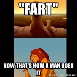"Lion King Shadowy Place - ""FART"" NOW THAT'S HOW A MAN DOES IT"