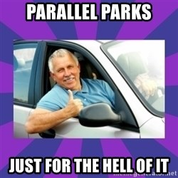 Perfect Driver - parallel parks just for the hell of it