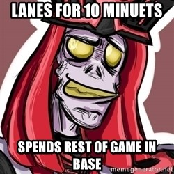 Troll Karthus - lanes for 10 minuets  spends rest of game in base