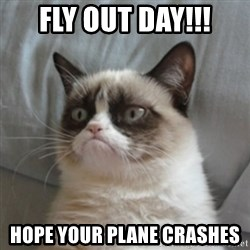 Grumpy Cat 10 - fly out day!!! hope your plane crashes