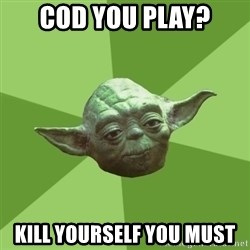 Advice Yoda Gives - CoD you play? kill yourself you must