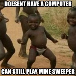 Black Kid - DOESENT HAVE A COMPUTER CAN STILL PLAY MINE SWEEPER