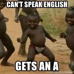 Black Kid - CAN'T SPEAK ENGLISH GETS AN A