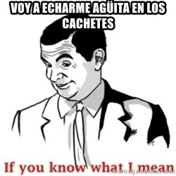 Mr.Bean - If you know what I mean - Voy a echarme agüita en los cachetes