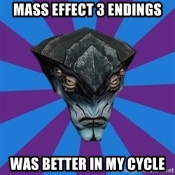 Javik the Prothean - Mass effect 3 endings Was better in my cycle