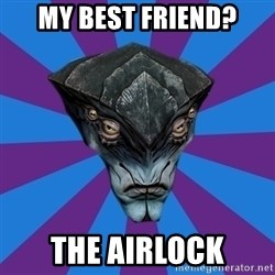 Javik the Prothean - My best friend? The airlock