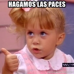 thumbs up - Hagamos las paces
