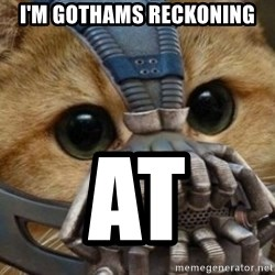 bane cat - I'M GOTHAMS RECKONING AT