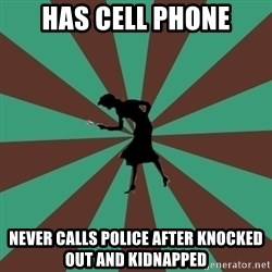 ma nancy drew - Has cell phone never calls police after knocked out and kidnapped