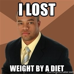 Successful Black Man - i lost weight by a diet