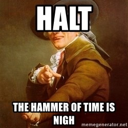 Joseph Ducreux - Halt The Hammer OF TIME Is nigh
