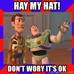 Everywhere - HAY MY HAT! DON'T WORY IT'S OK
