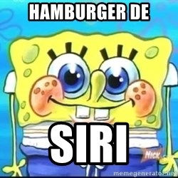 Epic Spongebob Face - HAMBURGER DE SIRI