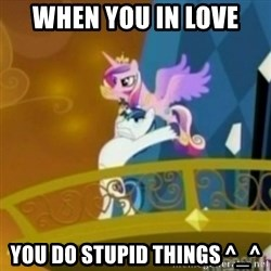 Shining Armor throwing Cadence - When you in love  you do stupid things ^_^
