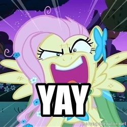 angry-fluttershy -  YAY