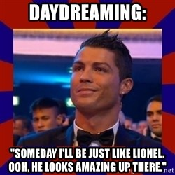"""CR177 - daydreaming: """"someday I'll be just like lionel. ooh, he looks amazing up there."""""""