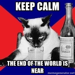 Alco-cat - Keep calm the end of the world is near