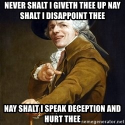 Joseph Ducreaux - never shalt i giveth thee up nay shalt i disappoint thee nay shalt i speak deception and hurt thee