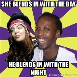 Interracial Couple - she blends in with the day he blends in with the night