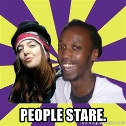 Interracial Couple - People stare.