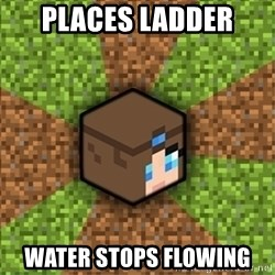 Minecraft Logic - PLACES LADDER WATER STOPS FLOWING