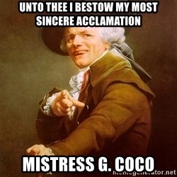 Joseph Ducreux - Unto thee i bestow my most sincere acclamation Mistress G. Coco
