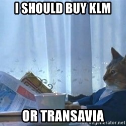 Suit cat - I should buy KLM or Transavia