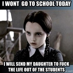 Vandinha Depressao - i wont  go to school today i will send my daughter to fuck the life out of the students