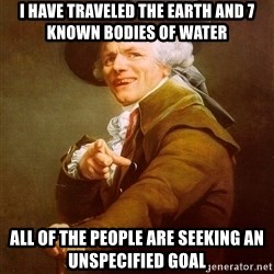 Joseph Ducreux - I have travelEd the earth and 7 known bodies of water All of the people are seeking an Unspecified goal