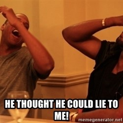 Jay-Z & Kanye Laughing - HE THOUGHT HE COULD LIE TO ME!