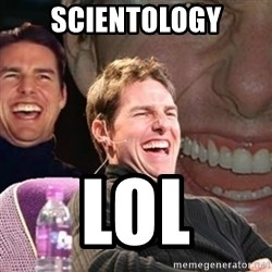 Tom Cruise laugh - scientology lol