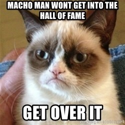 Grumpy Cat  - Macho man wont get into the hall of fame get over it