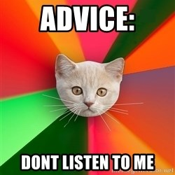 Advice Cat - ADVICE: DONT LISTEN TO ME