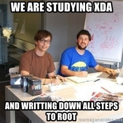 Naive Junior Creatives - we are studying xda and writting down all steps to root