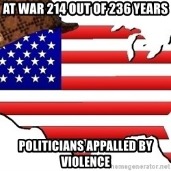 Scumbag America - AT WAR 214 out of 236 years Politicians appalled by violence
