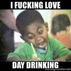 Black kid coloring - I Fucking Love Day Drinking