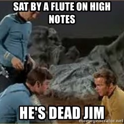 He's Dead Jim - sat by a flute on high notes he's dead jim