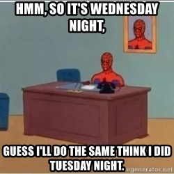 Spiderman Desk - Hmm, So it's Wednesday night, guess I'll do the same think I did tuesday night.