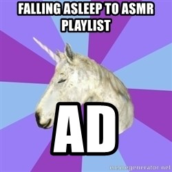 ASMR Unicorn - falling asleep to asmr playlist AD