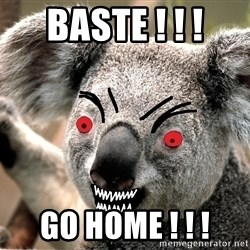 Abortion Koala - baste ! ! ! Go home ! ! !