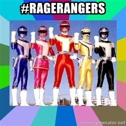 power rangers - #Ragerangers