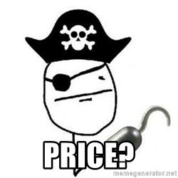 Poker face Pirate -  price?