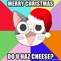 Nya Typical Anime Fans  - MERRY CHRISTMAS Do U HAZ CHEESE?