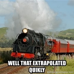 Success Train -  well that extrapolated quikly