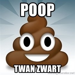 Facebook :poop: emoticon - POOP TWAN ZWART