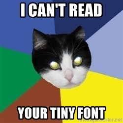 Winnipeg Cat - I CAN'T READ YOUR TINY FONT