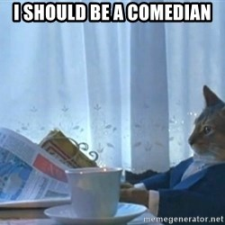 Boat cat meme - I should be a comedian