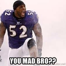 ray lewis -  you mad bro??