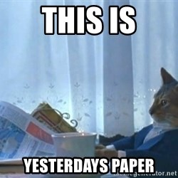 newspaper cat realization - this is yesterdays paper